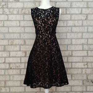 Tracy Reese Black Lace Fit and Flare Dress